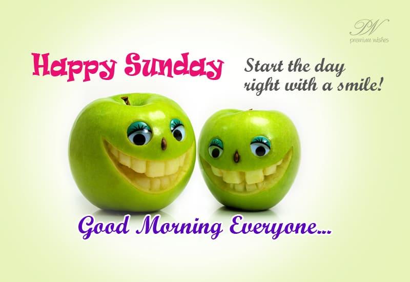 Good Morning Everyone Sunday Wishes Premium Wishes